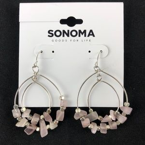 Sonoma Kohls Earrings Silver-tone Pink Beaded